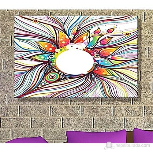 Renkli Güneş Dekoratif Kanvas Tablo