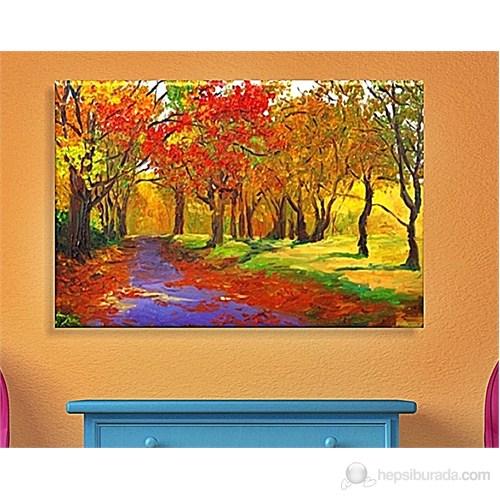 Orman Ağaçlar Dekoratif Kanvas Tablo