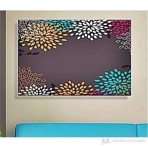 Renkli Çiçekler Dekoratif Kanvas Tablo