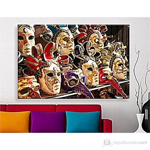 Maskeler Dekoratif Kanvas Tablo