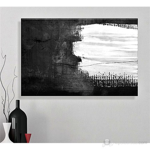 Siyah Beyaz Kanvas Tablo