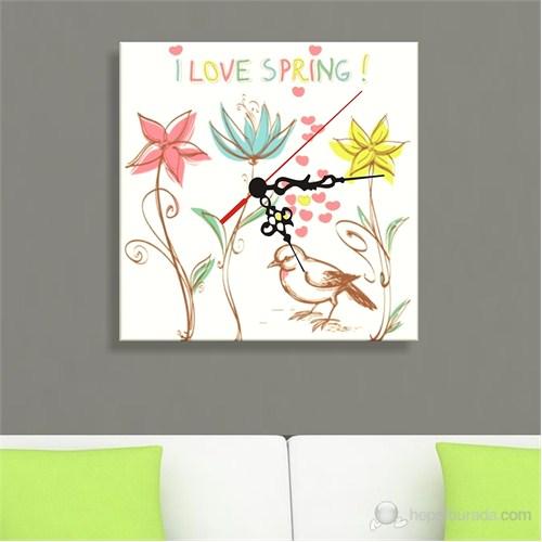 Kanvas Saat Love Spring