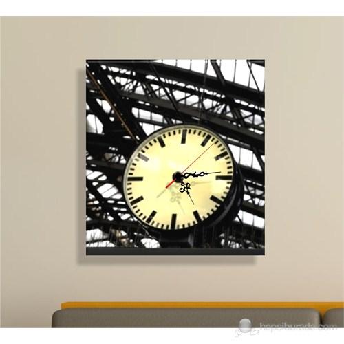 Beyaz İç Tablo Saat