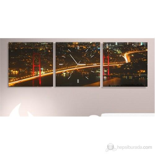 Boğaziçi Köprüsü 3 Parçalı Tablo Saat