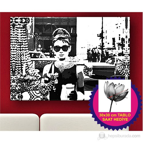 Audrey Hepburn Ix Kanvas Tablo