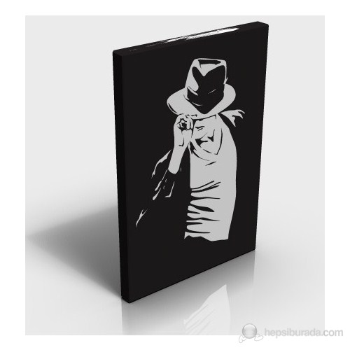 Micheal Jackson With Hat Kanvas Tablo