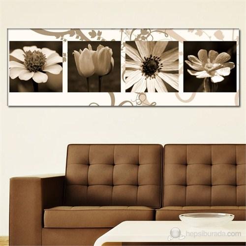 Tabloshop - Flowers Canvas Tablo - 90X30cm