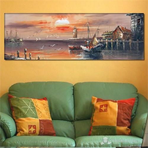 Tabloshop - İskele Gemi Canvas Tablo - 90X30cm