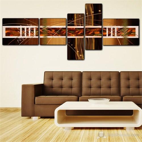 Tabloshop - Asymmetry 5 Parçalı Canvas Tablo 210X85cm