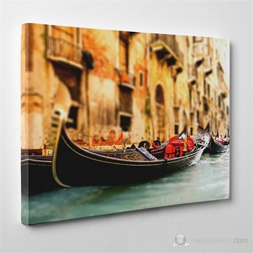 Tabloshop - Venetian Gondola Iı Canvas Tablo - 75X50cm