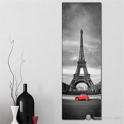 Tabloshop - Eiffel And Red Car Iı Canvas Tablo - 90X30cm