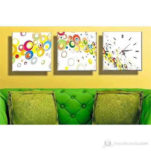 Renkler Kanvas Tablo ve Saat