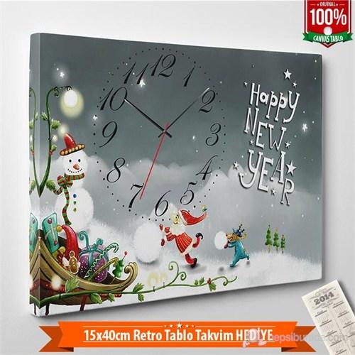 Tabloshop - Yılbaşı Özel Saat - Yb-11 - 45X30cm - Takvim Hediye