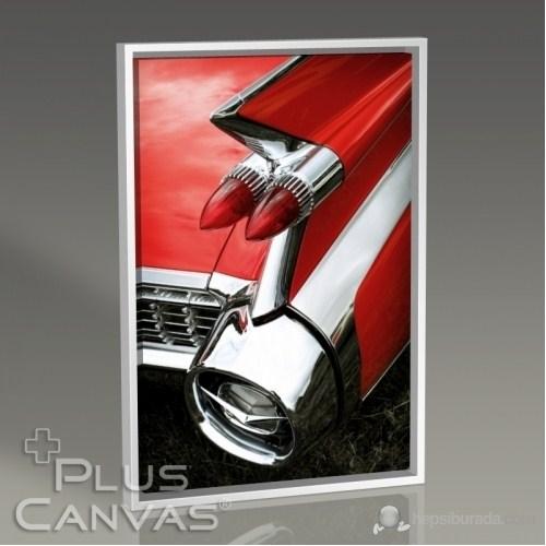Pluscanvas - Kırmızı Cadillac Tablo