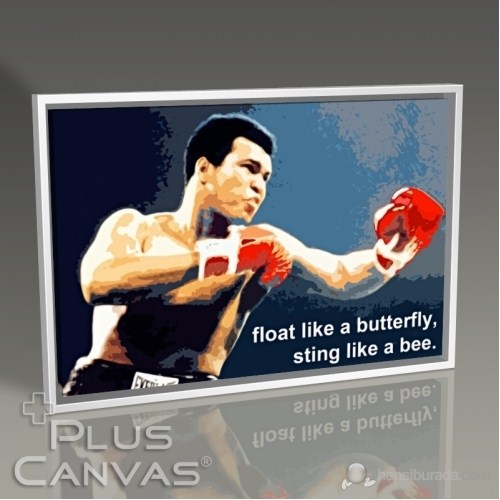 Pluscanvas - Muhammad Ali - Sting Like A Bee Tablo