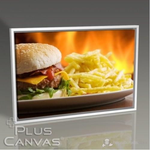 Pluscanvas - Hamburger Ve Patates Kanvas Tablo