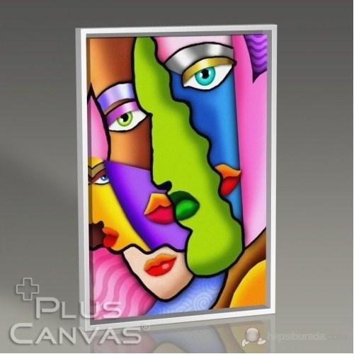 Pluscanvas - Faces İn Colors Tablo