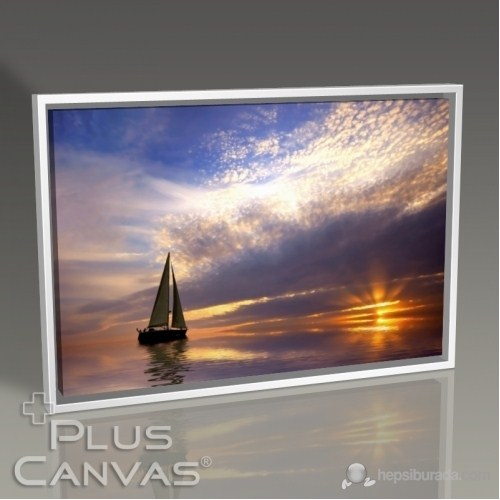 Pluscanvas - Beautiful Sunset And The Yatch Tablo