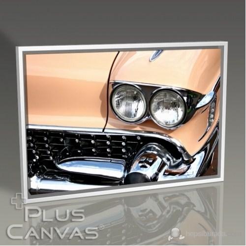 Pluscanvas - Classical Orange Car Tablo