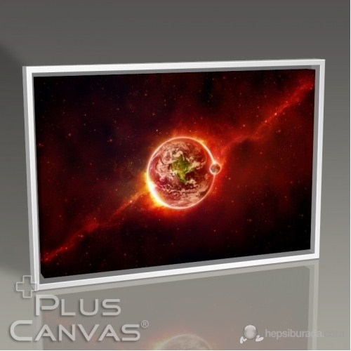 Pluscanvas - Earth In Red Tablo