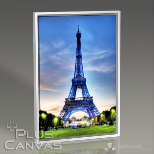 Pluscanvas - Paris - Eiffel Tower İn Blue Tablo