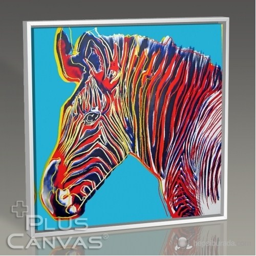 Pluscanvas - Andy Warhol - Zebra Tablo