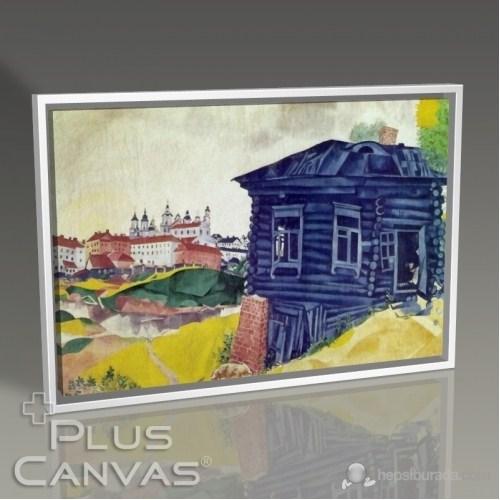 Pluscanvas - Marc Chagal - The Blue House Tablo