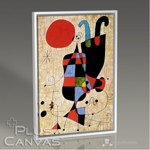 Pluscanvas - Joan Miro - Upside-Down Figures Tablo