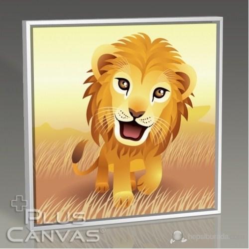 Pluscanvas - Lion Tablo