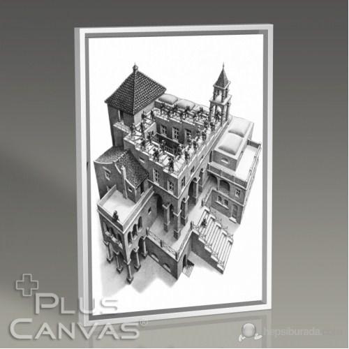 Pluscanvas - Mc Escher - Ascending And Descending Tablo