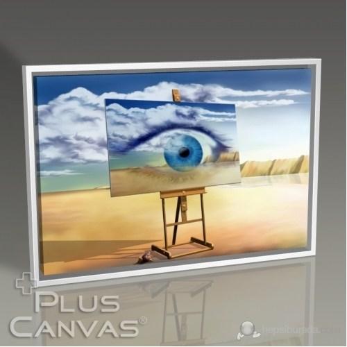 Pluscanvas - Eye On Canvas Abstract Tablo