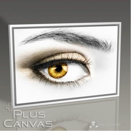 Pluscanvas - Yellow Eye Tablo