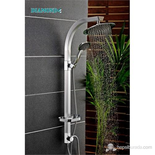 Argento Oval Şemsiye Sistem Duş Seti