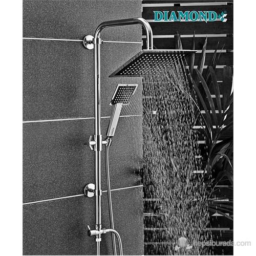 Brandium Kare Şemsiye Sistem Duş Seti
