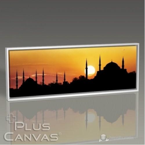 Pluscanvas - İstanbul - Aya Sofya Ve Sultan Ahmet Günbatımı Tablo