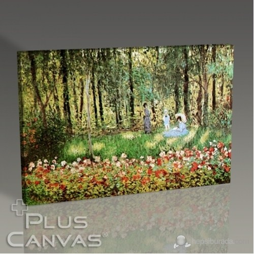 Pluscanvas - Cloude Monet - The Family Of The Artist İn The Argenteuil Garden Tablo
