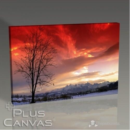 Pluscanvas - Red Sky Panorama Tablo