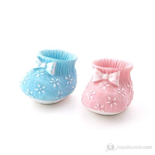 Çiçekli Küçük Patik Pembe 6'Lı Set