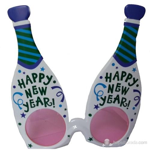 Yılbaşı Gözlüğü Happy New Year Beyaz