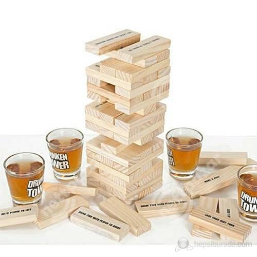 Drunken Tower Shot Bardaklı Denge Oyunu