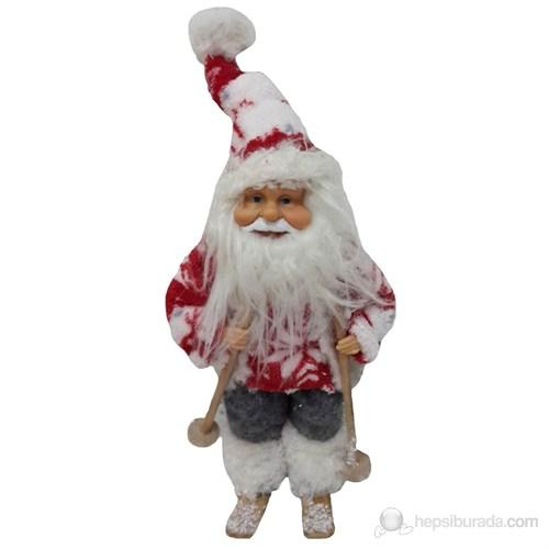 Kızaklı Peluş Noel Baba Dekoratif Süs 25 Cm