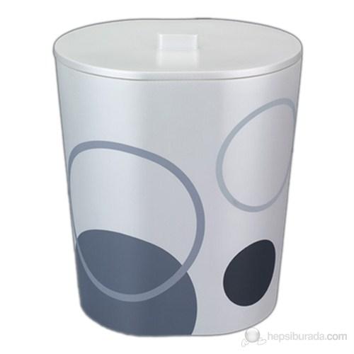 Luna Beyaz Çöp Kovası