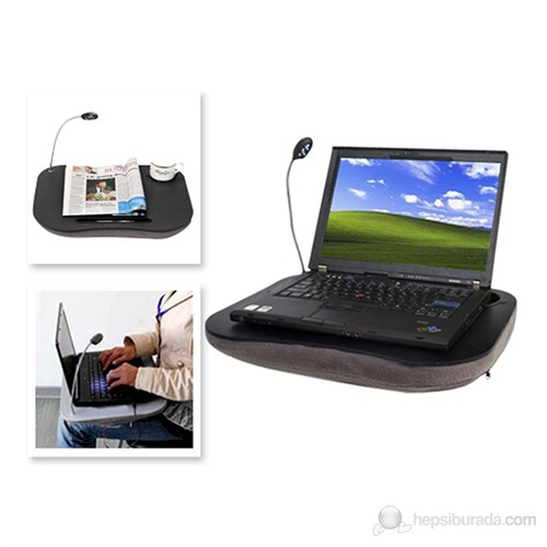 Minderli Lambalı Fonksiyonel Laptop Sehpası