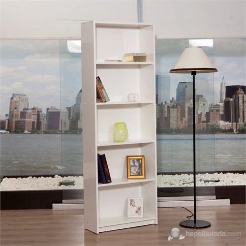 Moda Life Mobetto Almira Kitaplık ( Beyaz )