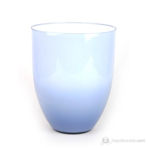 Akrilik Çöp Kovası Duman Mavi Y-Seri