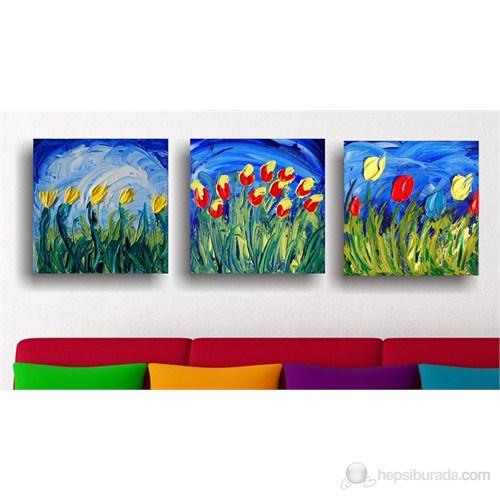 Sevgiliye Çiçekler Kanvas Tablo