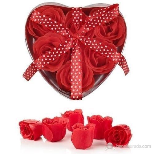 BlueZen Hearts Bath Confetti Kalp Kutu İçinde Gül Sabun