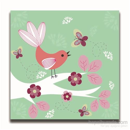 Dolce Home Dekoratif Ağaçta Kuş Temalı Tablo