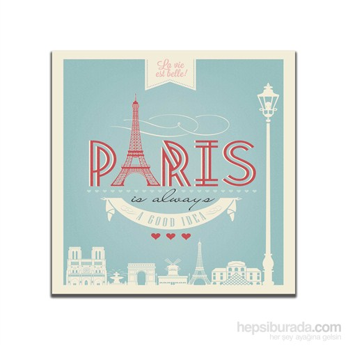 Dolce Home Retro Paris Tablo 38