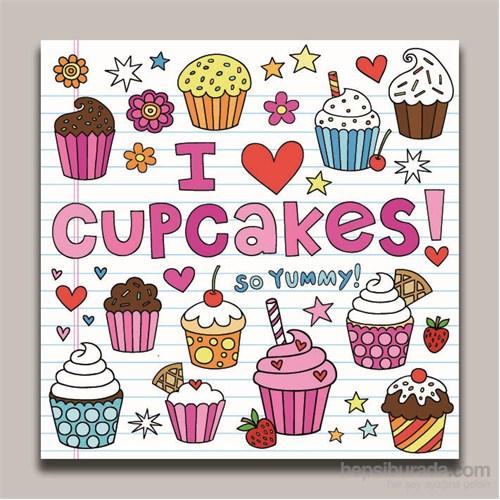Dolce Home Dekoratif Cupcakes Tablo